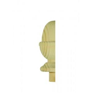 Richard Burbidge NC3PHALF Hallmark Pine Newel Cap Acorn 82mm Half