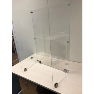 Hygiene and Sneeze Countertop Clear PETG Screen Kit - 3 Sided (Self-Assembly) 700mm (W) x 400mm (D) x 1000mm (H)