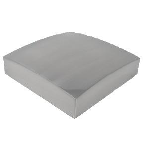 Unique Square Newel Cap Brushed Nickel 90 x 90mm