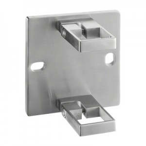 Q-Railing - Baluster bracket, Square Line, MOD 4551, fascia mount, tube 40x40 mm, st. steel 304 interior, satin