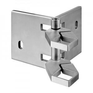 Q-Railing - Baluster bracket, Square Line, MOD 4555, angle adjust., tube 40x40 mm, st. steel 304 interior, satin