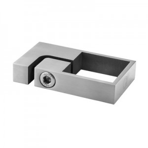 Q-Railing - Tube clamp, square, tube 40x40 mm, L=39 mm, stainless steel 304 interior, satin [PK2]