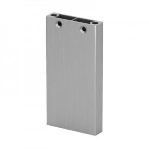 Q-Railing - Post profile, Easy Alu, 60x15 mm,H=1065 mm, brushed aluminium, anodized 25 micrometre