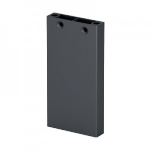 Q-Railing - Post profile, Easy Alu, 60x15 mm,H=1065 mm, aluminium, anthracite grey RAL 7016