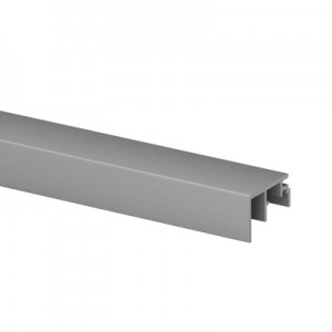 Q-Railing - Trim, Easy Glass Smart fascia & Prime top mount,10 mm, L=5000 mm, brushed aluminium, anodized