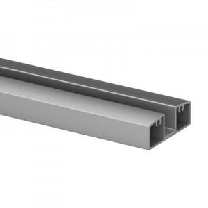 Q-Railing - Glass frame profile, Easy Alu, bottom, 55x25 mm,L=5000 mm, brushed aluminium, anodized 25 micrometre