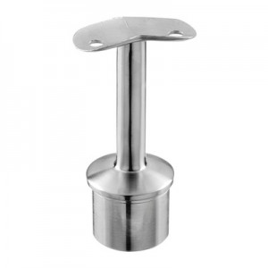 Q-Railing - Straight saddle, 45 degree, Dia 42.4 mm x 2 mm, handrail Dia 42.4 mm, stainless steel 304 interior, satin [PK2]