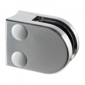 Q-Railing - Glass clamp, MOD 20, excl. rubber inlay, tube Dia 33.7 mm, zamak, stainless steel effect [PK4]- [10200003319]