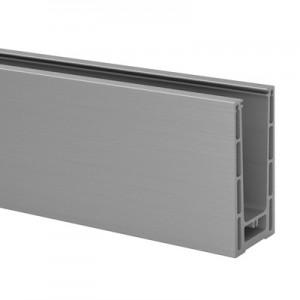 Q-Railing - Easy Glass Prime, base shoe, top mount,L=2500 mm, brushed aluminium, anodized, 25 micrometre