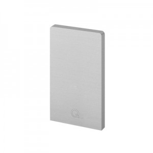 Q-Railing - End cap, Easy Glass Up, top mount, left & right, aluminium, powder coated RAL9006 - [16673402436]