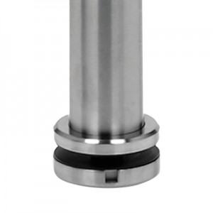 Q-Railing - Baluster post, MOD 0564, Dia 42.4 mm x 2 mm, for staircase, H=1150 mm, stainl. steel 304 interior, satin