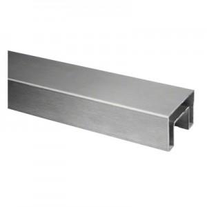 Q-Railing - Cap rail, rectangular, 60x40x1.5 mm, L=5000 mm, U=24 mm x 24 mm, stainless steel 316 exterior, satin