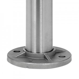 Q-Railing - Baluster post, Dia 42.4 mm x 2 mm, M6 one-sided, crossbar, diag., H=970 mm, st. steel 304 interior, satin