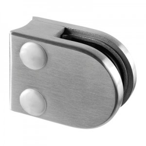 Q-Railing - Glass clamp, MOD 27, excl. rubber inlay, tube Dia 33.7 mm, zamak, stainless steel effect [PK4]