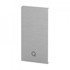 Q-Railing - End cap, Easy Glass Prime, fascia mount,right, brushed aluminium, anodized