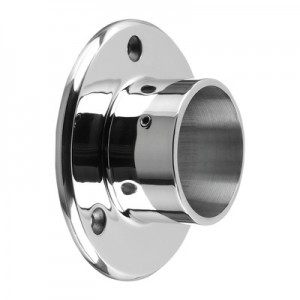 Q-Railing - Wall flange, tube Dia 42.4 mm, stainless steel 304 interior, polished [PK2]