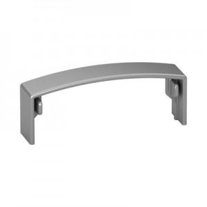 Q-Railing - Cover cap for handrail, Easy Alu, straight,horizontal, plastic, aluminium RAL 9006 [PK2]