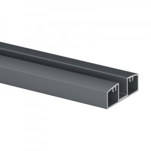 Q-Railing - Glass frame profile, Easy Alu, bottom, 55x25 mm,L=5000 mm, aluminium, anthracite grey RAL 7016 - [16595255533]