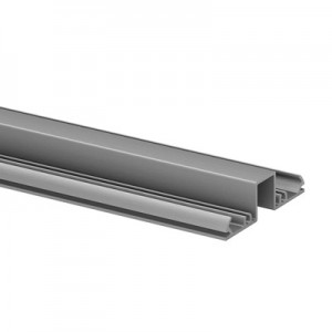 Q-Railing - Glass frame profile, Easy Alu, top, 67x19 mm,L=5000 mm, brushed aluminium, anodized 25 micrometre