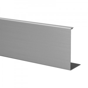 Q-Railing - Cladding, Easy Glass Prime, fascia mount,outside, L=5000 mm, brushed aluminium, anodized