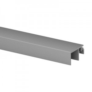Q-Railing - Trim, Easy Glass Smart, top mount,20 mm, L=5000 mm, brushed aluminium, anodized