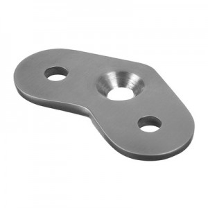 Q-Railing - Handrail connecting plate, 135 degree, handrail flat, stainless steel 304 interior, satin [PK8]