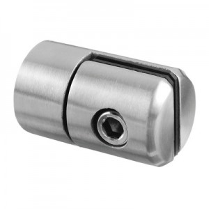 Q-Railing - Clamp, for 1.5 up to 4 mm plate, Dia 25 mm, flat, stainless steel 304 interior, satin [PK4]- [13074300012]