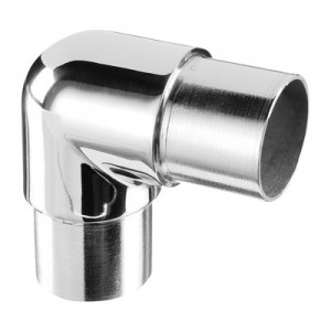 Q-Railing - Flush elbow, 90 degree, rounded, tube Dia 42.4 mm x 2 mm, stainl. steel 316 exterior, polished [PK2]- [14030324210]