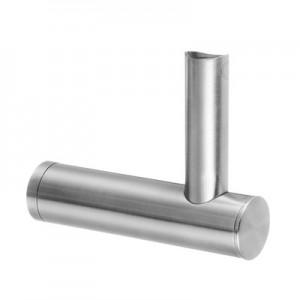 Q-Railing - Adjustable handrail bracket for tube, flat, handrail Dia 42.4 & 48.3 mm, stainl. steel 304 interior, satin [PK2]- [13014704412]