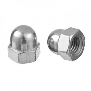 Q-Railing - Hexagon domed cap nut, high type, QS-516, M12 x 10 mm, DIN 1587, A4-70