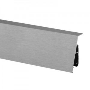 Q-Railing - Cladding, Easy Glass Pro, top mount, Linear Light, inside, L=5000 mm, alu, st. steel effect IX, anod.