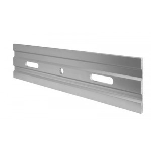 Q-Railing - Drainage profile, Easy Glass Pro, fascia mount, aluminium, stainless steel effect, anodized [PK4]
