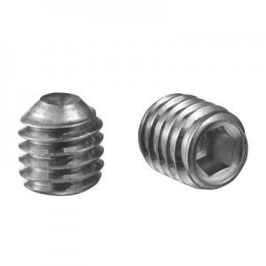 Q-Railing - Grub screw with internal hexagon, flat, QS-90, M5 x 5 mm, DIN 916/ISO 4029, A4-70, Real-Loc - [PK Qty 50]- [95040050514] 240400-505