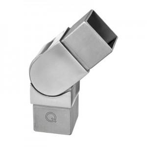 Q-Railing - Adjustable flush angle, Square Line, (0 degree-70 degree), tube 40x40x2 mm, stainless steel 304 interior, satin [PK2]