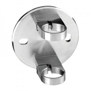 Q-Railing - Baluster bracket, MOD 0552, fascia mount, tube Dia 42.4 mm, stainless steel 304 interior, satin - [13055204212]