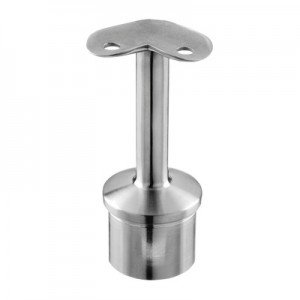 Q-Railing - Straight saddle, 90 degree, Dia 33.7 mm x 2 mm, handrail Dia 42.4 mm, stainless steel 304 interior, satin [PK2]