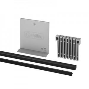 Q-Railing - Rubber set fixed, Easy Glass Pro, L=5000 mm, (10-0,76-10) 20.76 mm laminated glass