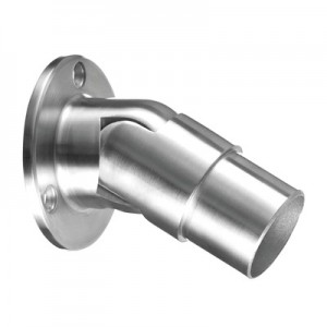 Q-Railing - Wall flange, variable, (0 degree-50 degree), tube Dia 33.7 mm x 2 mm, stainless steel 304 interior, satin [PK2]
