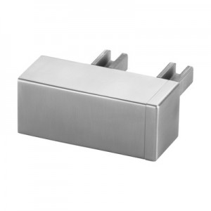 Q-Railing - Wall flange, 90 degree, for cap rail, rectangular, MOD 6507, 65x40 mm, stainless steel 316 exterior, satin [PK2]