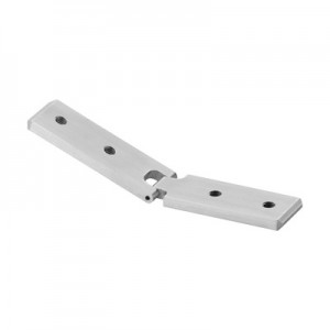 Q-Railing - Adjustable flush angle, (- 90 degree up to + 90 degree), vertical, for cap rail, aluminium, raw [PK2]