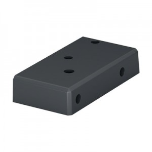 Q-Railing - Base flange for post profile, Easy Alu,left, aluminium, anthracite grey RAL 7016