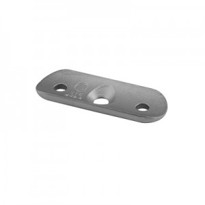 Q-Railing - Handrail connecting plate, hole distance 45 mm, handrail Dia 42.4 mm, stainless steel 316 exterior, satin [PK8]