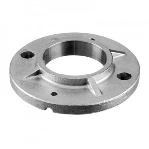 Q-Railing - Welding flange, tube Dia 48.3 mm, round, 100 mm, stainless steel 316 exterior, untreated [PK2]- [14094004800]