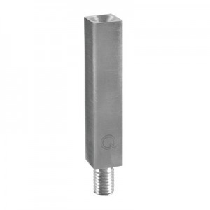 Q-Railing - Handrail bracket stem, 14 x 14 mm, M10/M6 thread, L=68 mm, stainless steel 304 interior, satin [PK2]- [13481106812]