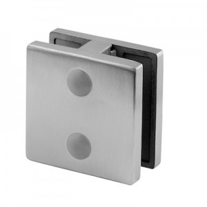 Q-Railing - Glass clamp, MOD 52, excl. rubber inlay, stainless steel 304 interior, satin [PK4]