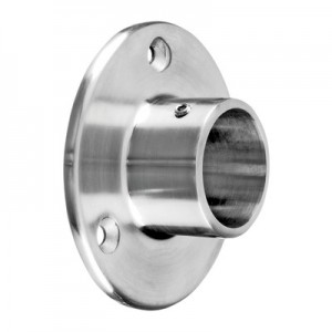 Q-Railing - Wall flange, tube Dia 42.4 mm, stainless steel 304 interior, satin [PK2]- [13050504212]
