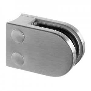 Q-Railing - Glass clamp, MOD 22, excl. rubber inlay, tube Dia 42.4 mm, stainless steel 304 interior, satin [PK4]