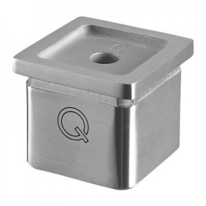 Q-Railing - Tube adapter, Square Line, tube 40x40x2 mm, handrail flat, stainless steel 304 interior, satin [PK2]- [13472700012]