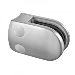 Q-Railing - Glass clamp, MOD 28, excl. rubber inlay, tube Dia 42.4 mm, stainless steel 304 interior, satin [PK4]