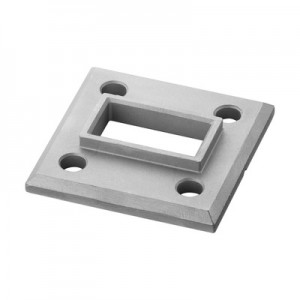 Q-Railing - Welding flange, Square Line, tube 60x30 mm, stainless steel 316 exterior, untreated [PK2]